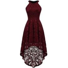 ZOGAA 2019 Elegant Vintage Lace Dress Women Robe Femme Summer Halter Sleeveless Party Vestidos maxi dresses
