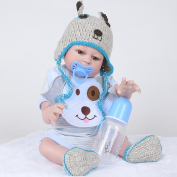 Reborn Lifelike Full Body 50CM Adorable Reborn Baby Doll Silicone Babies Doll Handmade Toddler Dolls With Hands Xmas Gifts Kids