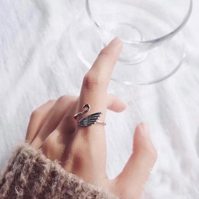 Mode Animal cygne ouvert anneau réglable doigt usure dé Guide de fil ajuster boucle de tricot boucle de Crochet accessoires de tricot