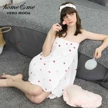 Vero Moda nouveautés élastique imprimé robe de nuit Homewear robe