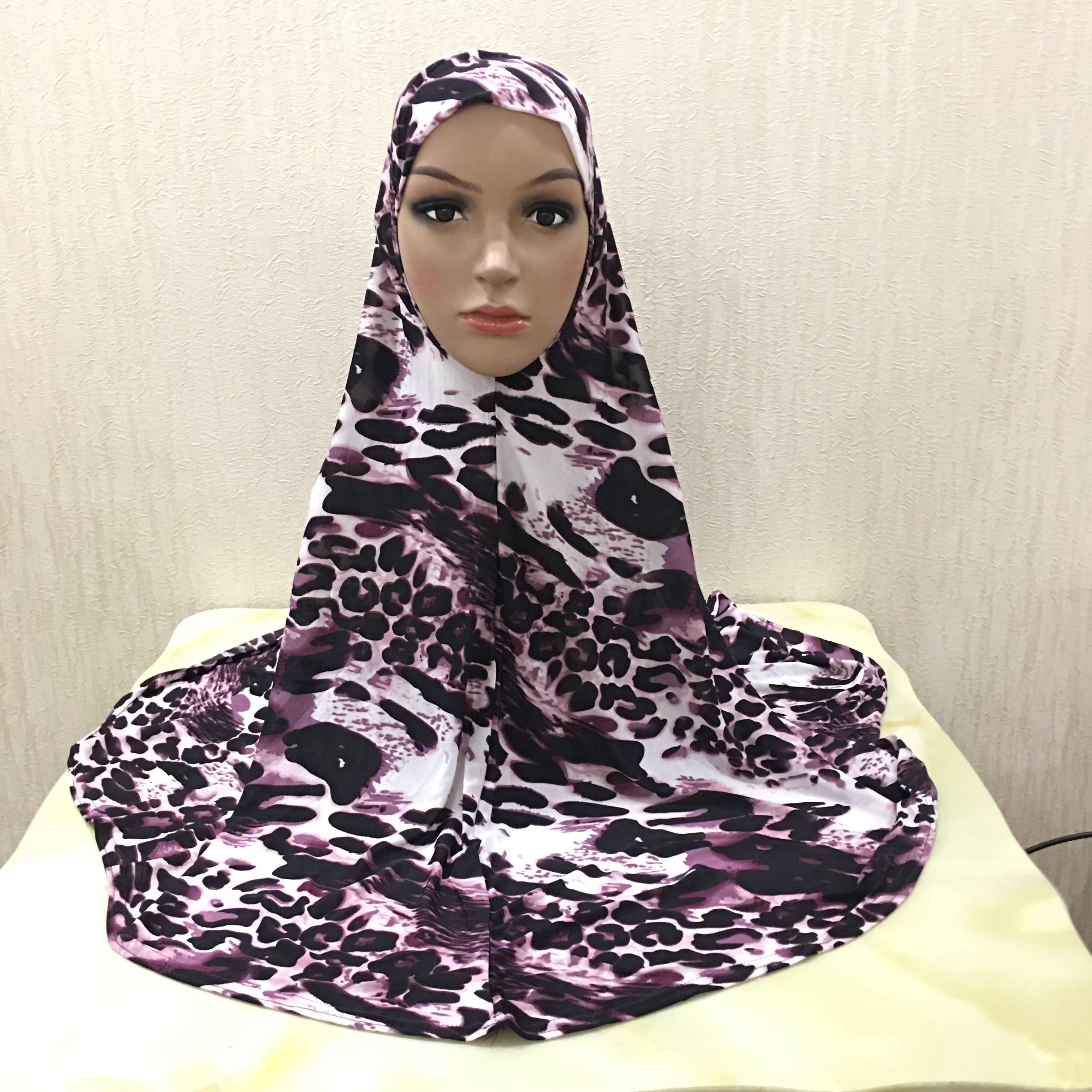 Мусульманский хиджаб с принтом H029, большой размер 90*80 см, хиджаб Амира, Натяжной шарф, повязка на голову