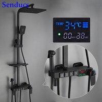 Venta Conjunto de ducha Digital Senducs cabezal de ducha de alta presión Sistema de ducha de baño