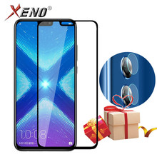 9D Full Cover Tempered Glass For Huawei Honor 8X Protective Screen Protector Back Camera Lens Film