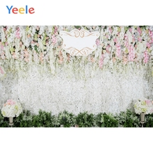 Yeele Wedding Party Flowers Wall Lawn Customized Photography Backdrops Personalized Photographic Backgrounds For Photo Studio