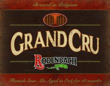 Rodenbach grand cru cerveja lager metal estanho cartaz placa de parede