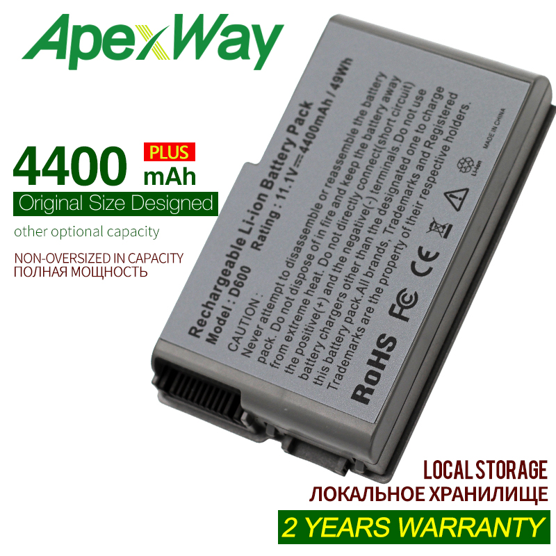 ApexWay 4400mAh  Battery For Dell Latitude D500 D505 D510 D520 D530 D600 D610 For Precision W1605 Y1338 M20 C1295 M9014 U1544