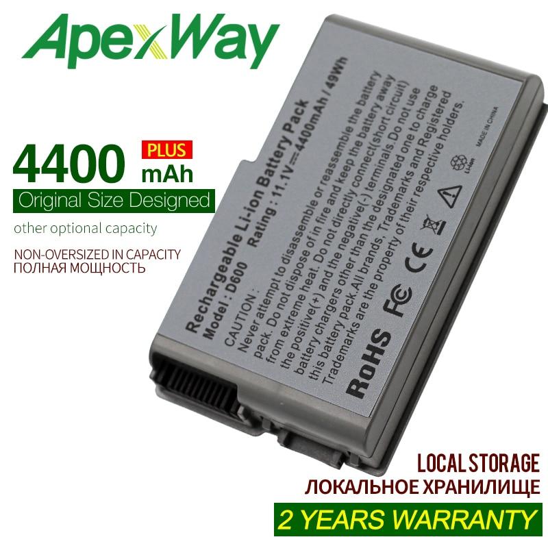 ApexWay 4400mAh  Battery For Dell Latitude D500 D505 D510 D520 D530 D600 D610 For Precision W1605 Y1338 M20 C1295 M9014 U1544