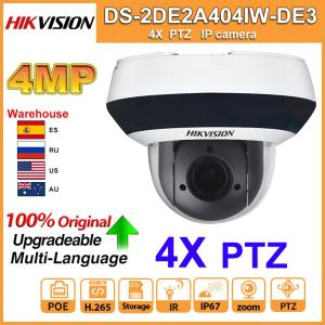 Image 1 - Original Hikvision PTZ IP Camera DS 2DE2A404IW DE3 Updateable 2.8 12mm IR 20M 4X Zoom with PoE H.265 CCTV Video Surveillance
