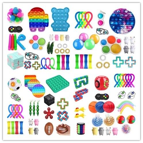 Непоседа упаковка игрушек, игрушка для снятия стресса в комплект Kawaii подарок игрушки деревянный ящик для маленьких девочек детское простое...