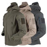 Уличное мягкое пальто из флиса для мужчин и женщин, ветронепроницаемое, водонепроницаемое, дышащее, теплое, три в одном пальто, Акула, кожана...
