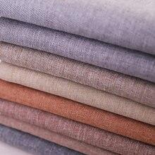 Tissu en lin et Polyester uni, pour rideaux de canapé, meubles de maison, bricolage, couture