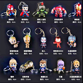 Marvel Avengers 30 style Hand Office Aberdeen brelok do kluczyków samochodowych wisiorek Iron Man Thor Spiderman Groot czarna wdowa Hulk Thanos Toy tanie i dobre opinie Hasbro lalka winylowa CN (pochodzenie) Unisex Jeden rozmiar 4-9cm Model 6 lat Peryferyjne Zachodnia animacja Wyroby gotowe
