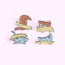Whale Shark Enamel Pins Custom Animal Banner Brooches Lapel Pin Shirt Bag Badge Cartoon Ocean Sea Jewelry Gift for Friends crafty bch enamel pins custom heart shape brooches lapel pin shirt bag pink scissors badge jewelry gift for friends
