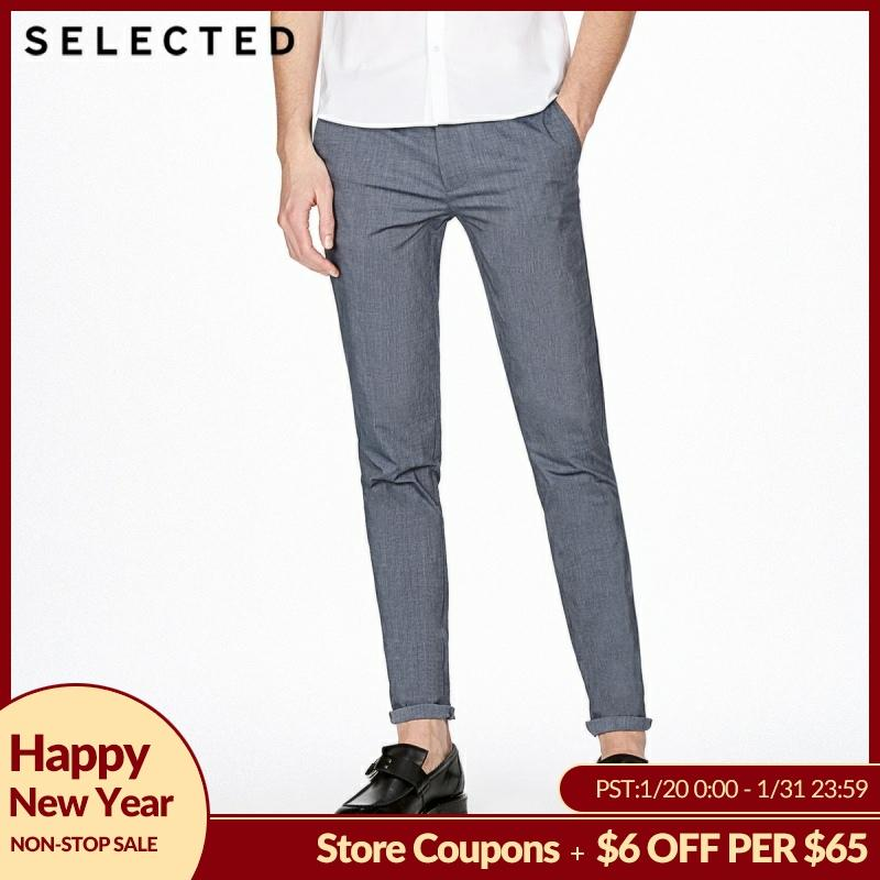 SELECTED Cotton Slim Fit Business Leisure Pants S|4182W2515