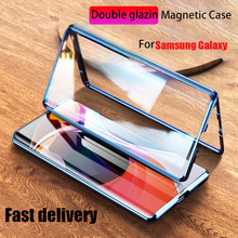 Magnetic Metal Case For Samsung Galaxy Note 20 Ultra 10 Pro 9 S20 S10 S9 S8 Plus A51 A71 A50 A70 A10 A20 Double Side Glass Cover