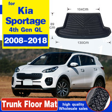 Car Rear Boot Cargo Liner Tray Trunk Luggage Floor Carpet Mats Carpets Pad Mat For Kia Sportage 2016 2017 2018 2019 4th Gen QL(China)