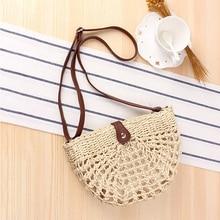 Straw Bag Women's Summer Rattan Bag Handmade Woven Circle Bohemia Beach Handbag Wicker Bag bolso mimbre недорого