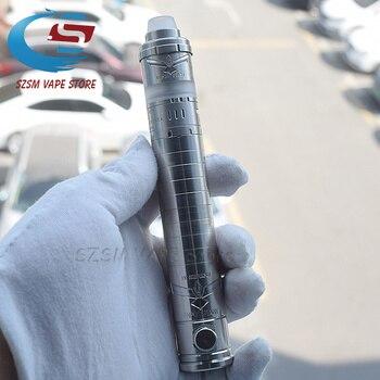 E-cigarette mod with Kronos 2 S rta vape 316ss 4.0 ml adjustable airflow for MTL or DL 23mm Vaporizer Mechanical vape kit sxk atto mechanical mod dvarw mtl rta kit 18350 18650 battery 22 mm 316ss 5 0 ml capacity vaporizer mechanical vaporisa vape kit
