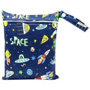 20*25cm Mini Diaper Wet Bag Single Pocket Zipper Baby Bags For Mom Maternity Travel Stroller Bag PUL Nappy Diaper Bag Wetbag - AS-MB-25