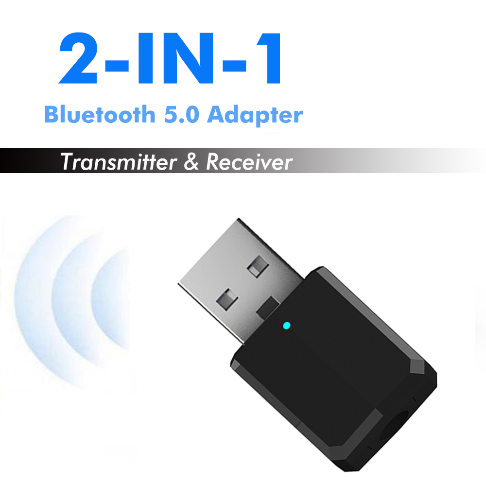 Bluetooth 5.0 Audio Transmitter Receiver Mini USB 3.5mm AUX Jack Stereo Music Wireless Bluetooth Adapter For TV PC Car Speaker