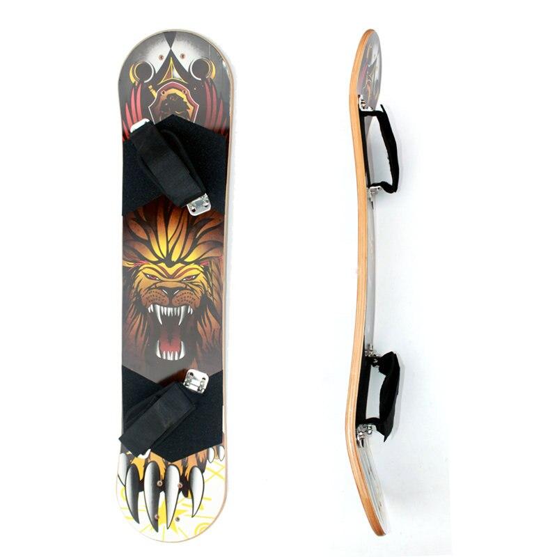 """Cubierta de bambú de 10 capas fuera de carretera 9 """"x 37"""" Tabla de tabla de monopatín de montaña con soporte de pie para adultos monopatín de Electrick Skate"""