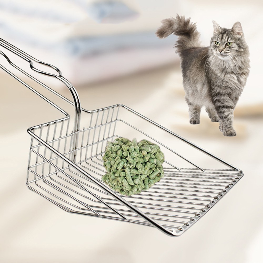 Pets Litter Scoopers Metal Shovel Pooper Cat Sand Pet Toilet Shit Artifact Dogs Waste Cleaning Scoop Tools Silver Color New