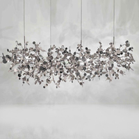 Modern Terzani Argent Chandelier Lighting Art Designer Stainless Steel Gold/chrome Light Fixture Dinning Room Chandelier Lamp