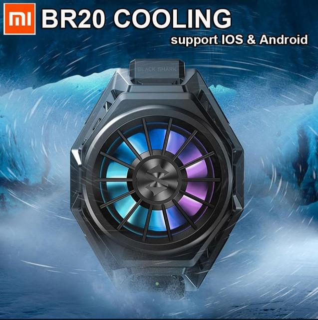 재고! 원래 Xiaomi 블랙 상어 3 프로 2 프로 재미 쿨러 냉각 팬 미 10 프로 RGB 라이트 아이폰 XS 화웨이 P20 p30 P40