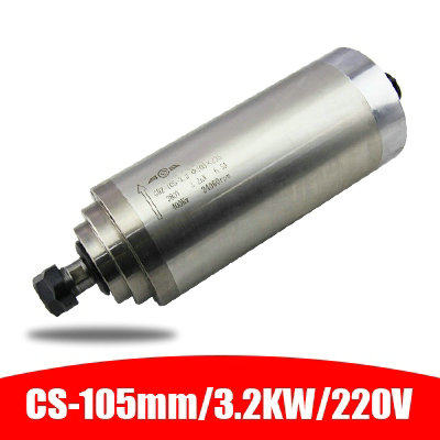 220V/380V 3.2KW GDZ-105-30 ER20 105mm diameter of the spindle <font><b>motor</b></font> water-cooled electric spindle carving machine accessories image