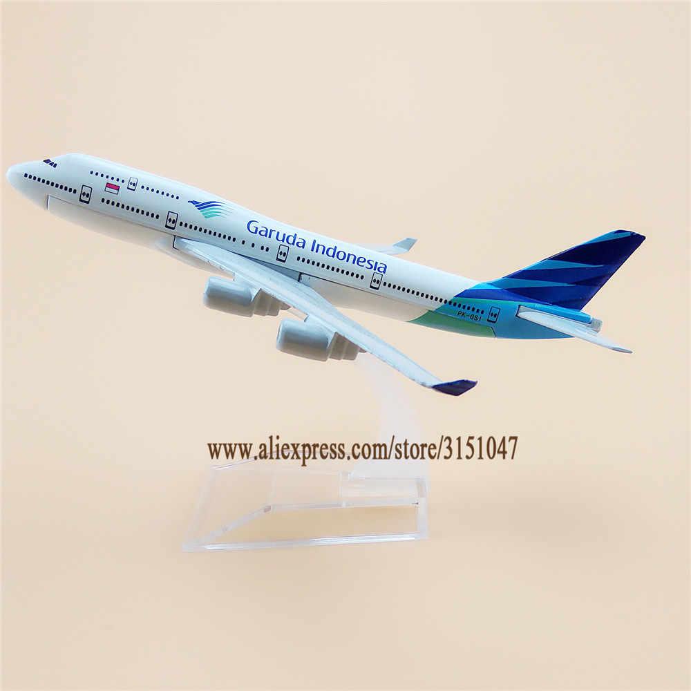 16cm Air Garuda Indonesia Boeing 747 B747 aviones modelo avión modelo aleación Metal aviones Diecast juguete niños regalo