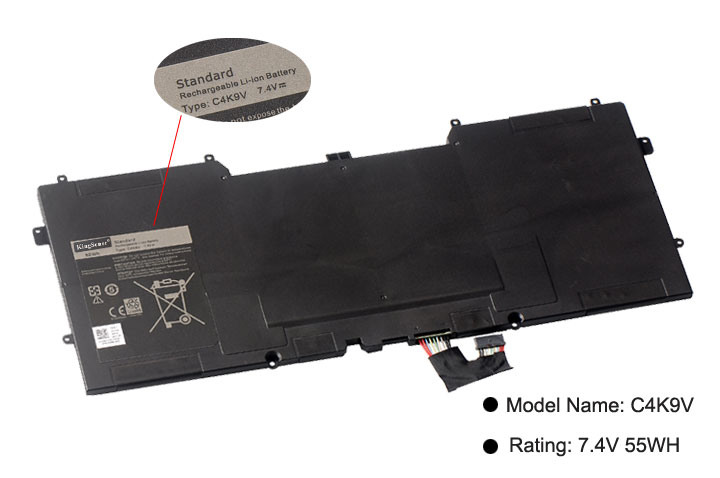 Image 3 - Kingsener Y9N00 C4K9V New Laptop Battery for DELL XPS 12 XPS13  L321X XPS13 L322X L321X C4K9V 3H76R Y9N00 489XN 7.4V 47WH-in Laptop Batteries from Computer & Office