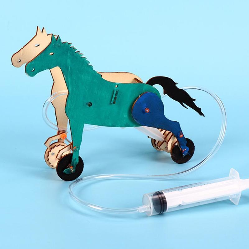 Assembly DIY Mechanical Horse Materials Kit Fun Model Educational Toys