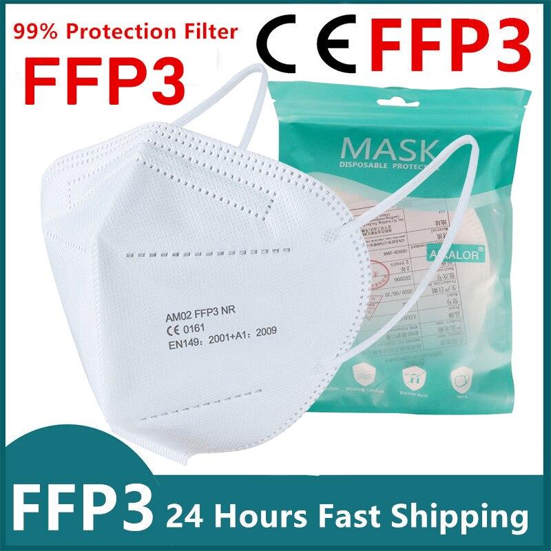 Mascarilla facial protectora FFP3 Unisex m scara de seguridad antipolvo PM2 5 fpp3 homologada CE 20
