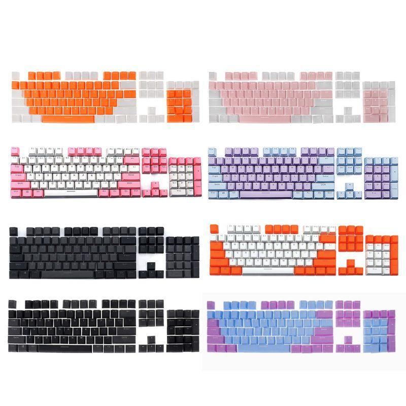 Translucent Double Shot PBT 104 KeyCaps Backlit For Cherry MX Keyboard SwitchKeyboards   - AliExpress