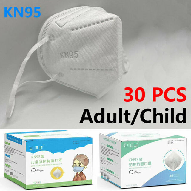 KN95 Non-woven Baby Protective Mask Anti-flu Health Care Standard Proof Safety Protective Mouth for Adults and Child 30 PCS 2
