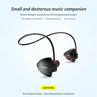 Awei Hinten-montiert Sport Bluetooth Headset Wireless Surround Sound Unterstützt NFC Funktion Kopfhörer Sport Neck Ohrhörer Anti-verloren