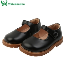 Children Shoes Spring Toddler Black Girls' Flat 1-3years Brand Pu for Beige Brown Pure