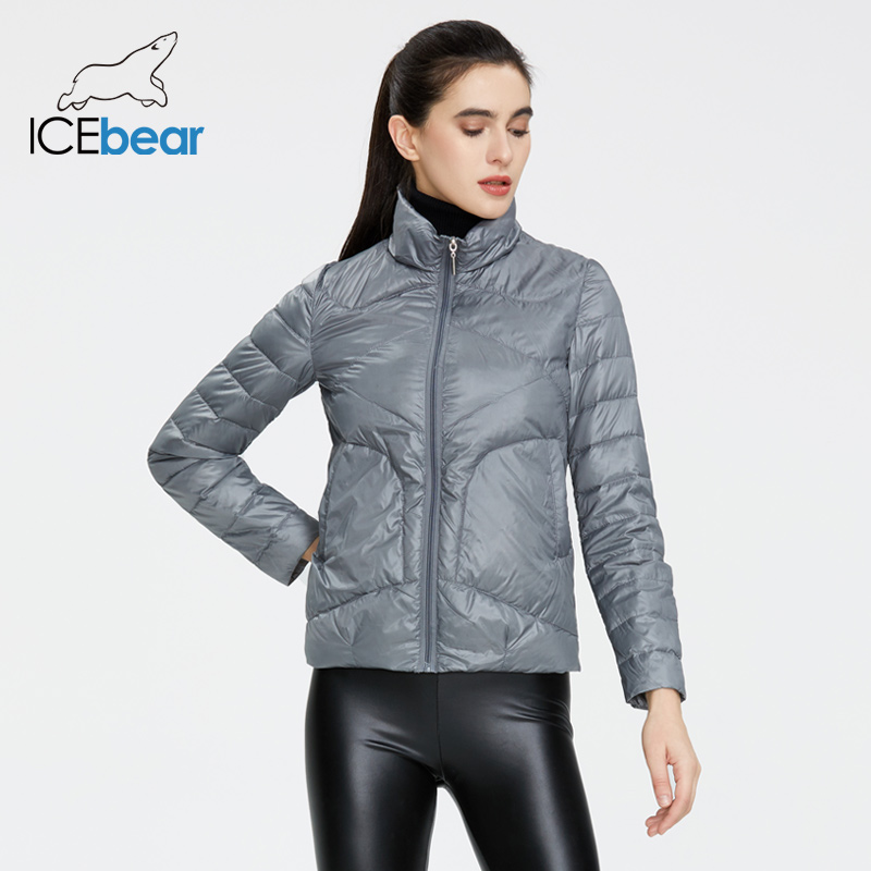 ICEbear 2020 Women Spring Lightweight Down Jacket Stylish Casual Women Jacket Female Collar Women Clothing GWY19556D