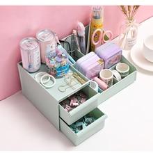 Pen-Holder Organizer Drawer Desktop-Storage Multifunctional Student Dressing-Box Skin-Care-Product