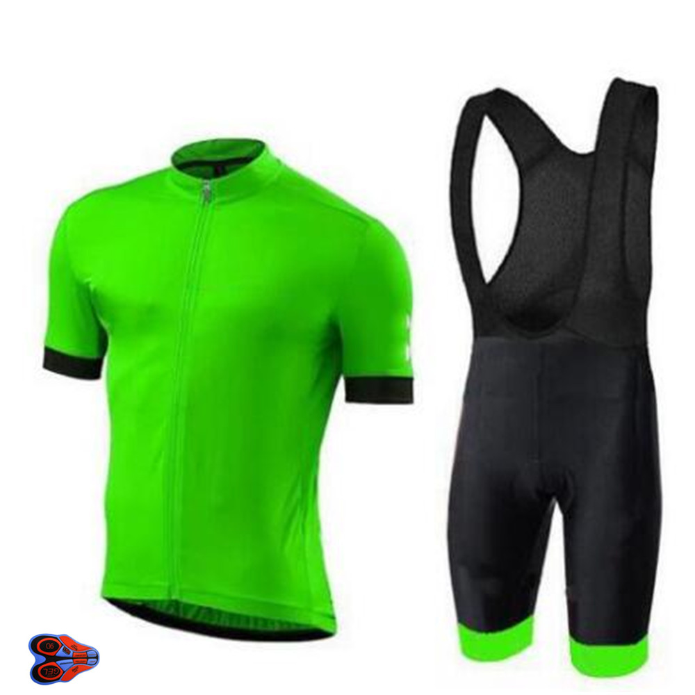 2019 Fluo Green Cycling Team Clothing 9D Pad Shorts Set <font><b>Bike</b></font> Jersey Mens Quick Dry Bicycle <font><b>Wear</b></font> Summer Pro Cycling Jerseys image