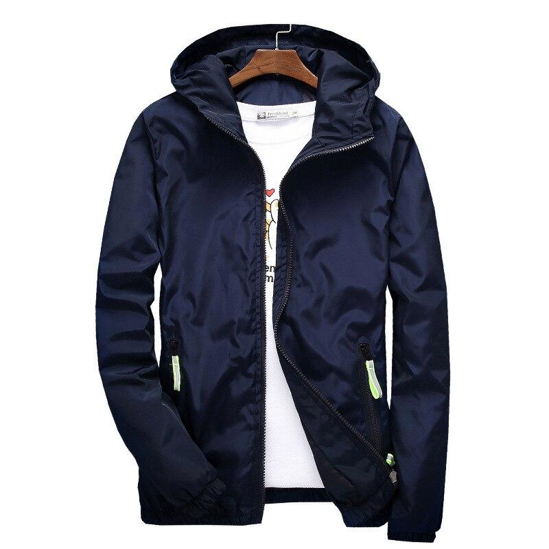 Jacket Men's Large Size Summer Bomber Spring Windbreaker cloth Streetwear Coat Hood 2019 Fashion Male Clothing 7XL Plus Size 6XL