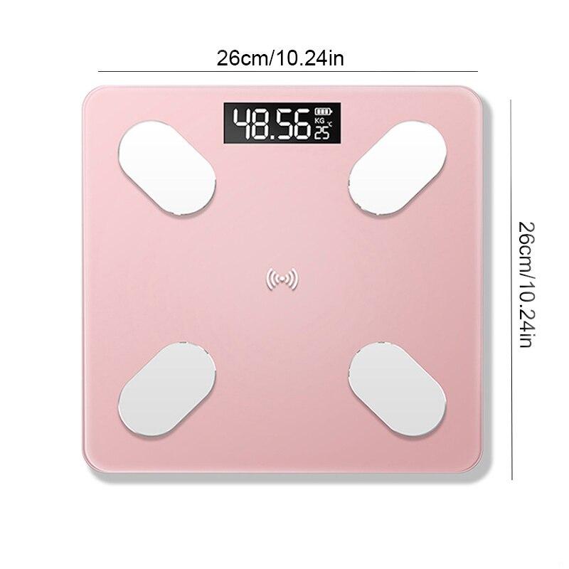 Body-Fat-Scale Balance Body-Composition-Analyzer Digital Bluetooth Smart Electronic LED