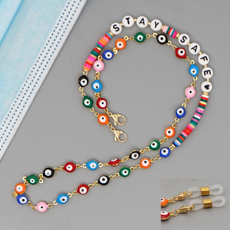 Evil Eye Beads Mask Chain