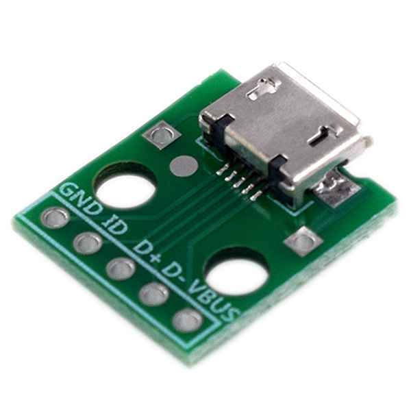 Hot 3C-10Pcs Micro-Usb To Dip Adapter 5Pin Female Connector B Type Pcb Converter