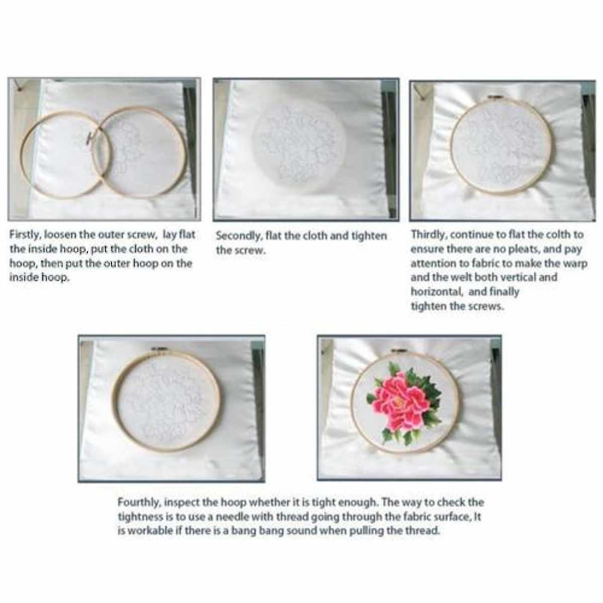 7 Размер деревянная круглая пяльца для вышивания крестиком швейные инструменты ремесло кольцо рамка машина инструмент вышивка круг вышивать ремесла