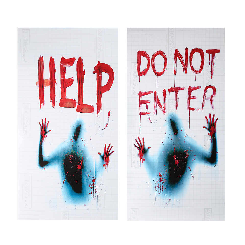48*28cm Halloween Wall Sticker Horror Ghost Hand Stickers for Door and Window Car Stickers Party Decoration Halloween Decoration