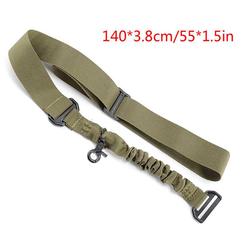 1 Pcs Nylon Verstelbare Tactical single point Bungee Rifle Gun Airsoft Air Rifle Sling jacht gun Strap Schieten Accessoires