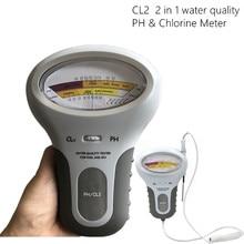 CL2 Tester 2 in 1 su kalitesi PH ve klor PC 101 seviye taşınabilir dijital PH ölçer havuzu Spa analitik cihazlar 40% kapalı