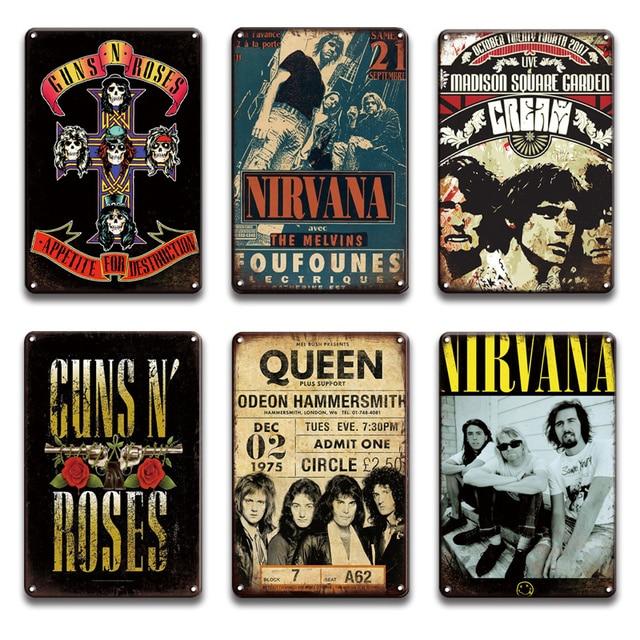 Rock N Roll Ledged Vintage Plates