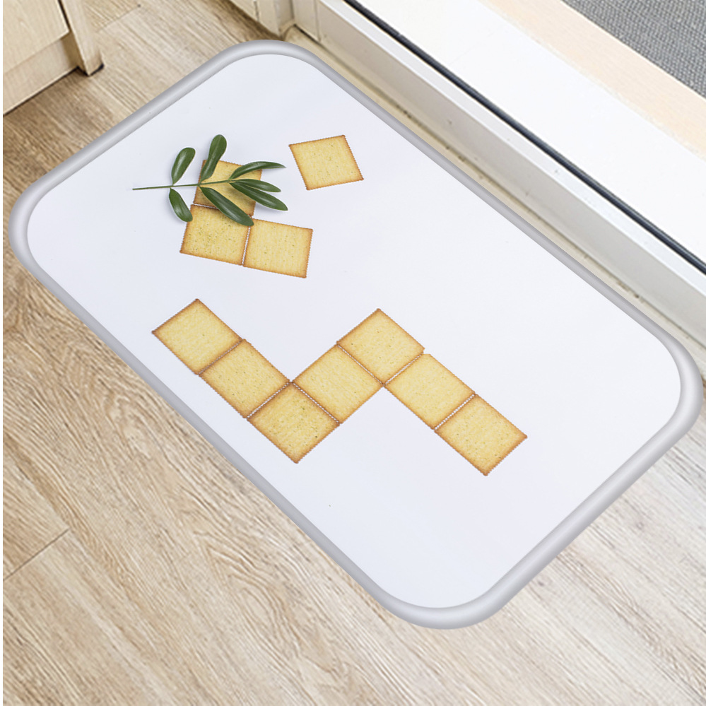 Image 3 - New Delicious Cookies Flannel Thicken Soft Mat Doormat Bathroom 